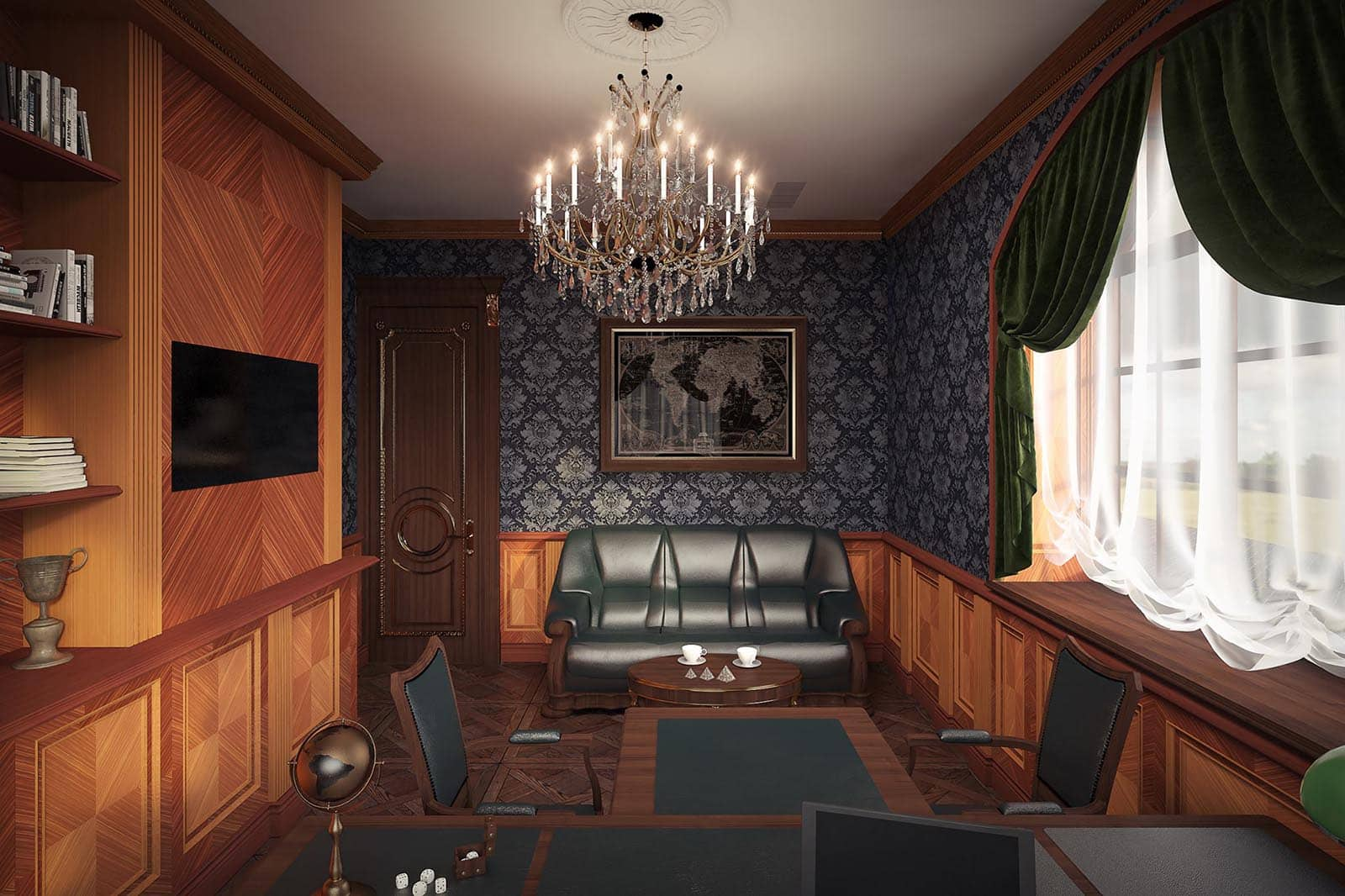 Classic office room