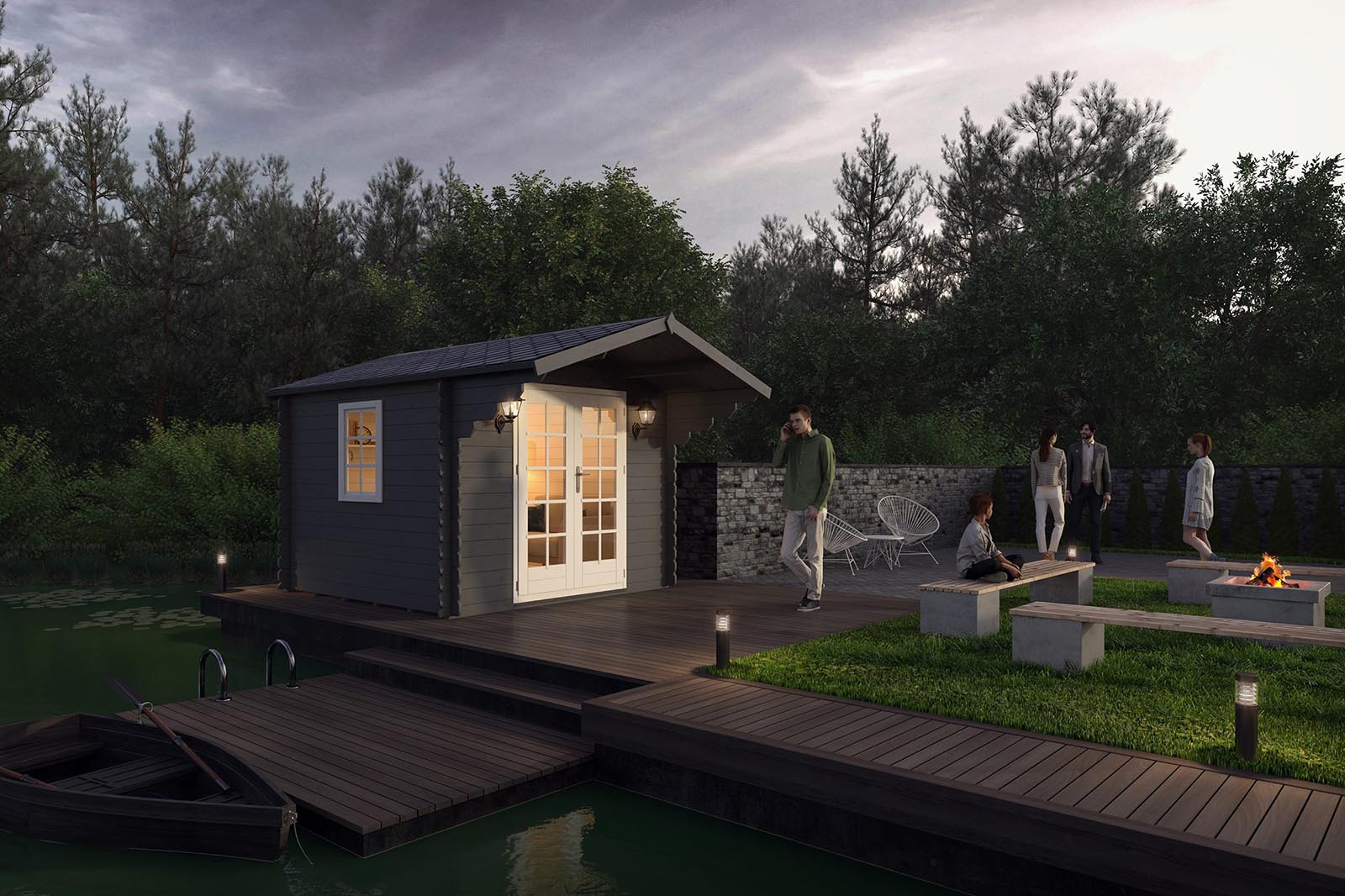 3D visualization-Garden-Cabin