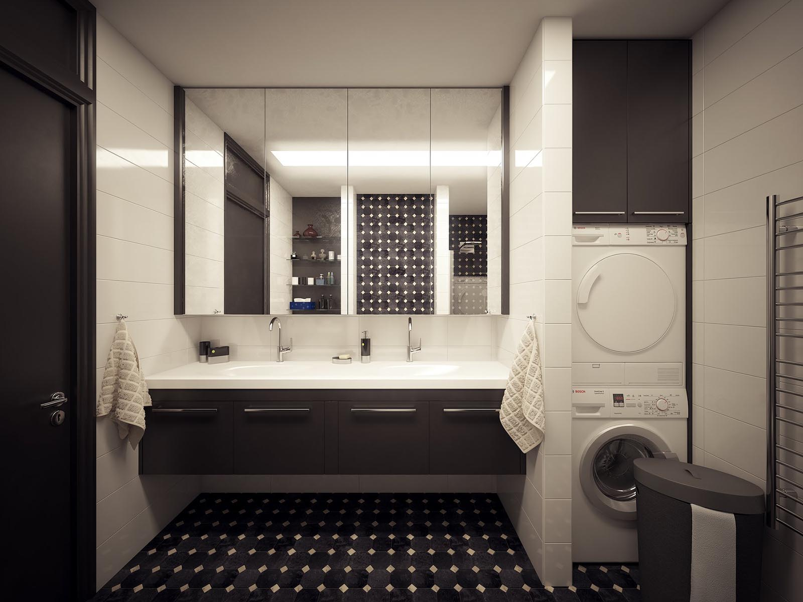 3D Visualization of a Modern bathroom-2