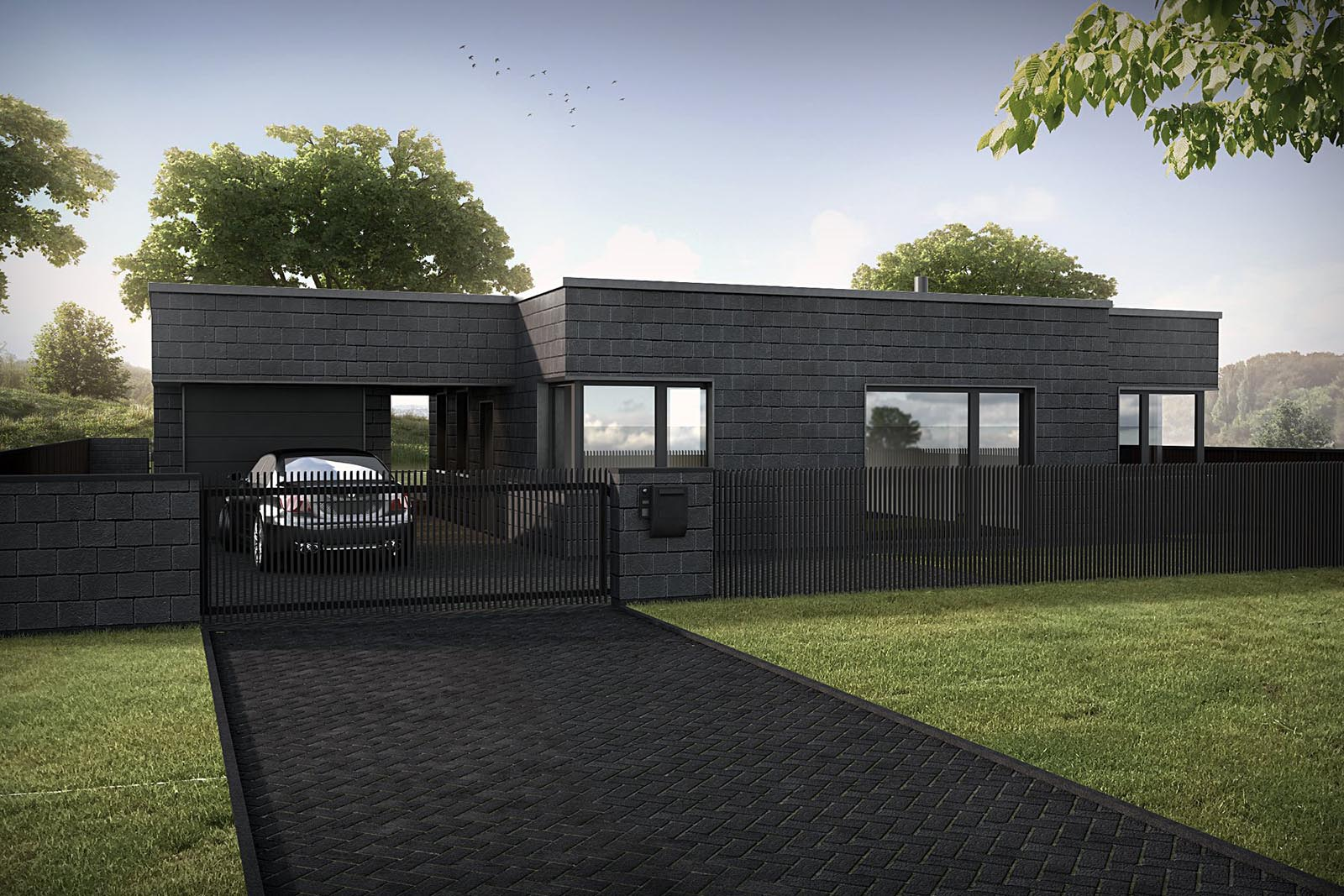 3D visualizations- render of a Modern house-2