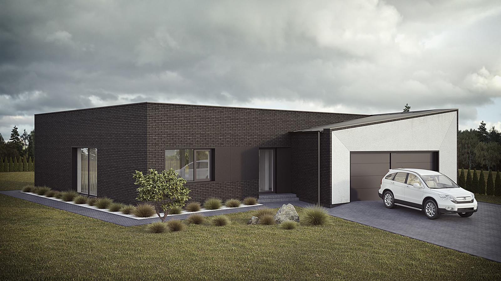 3D visualizations- render of a Modern house-3