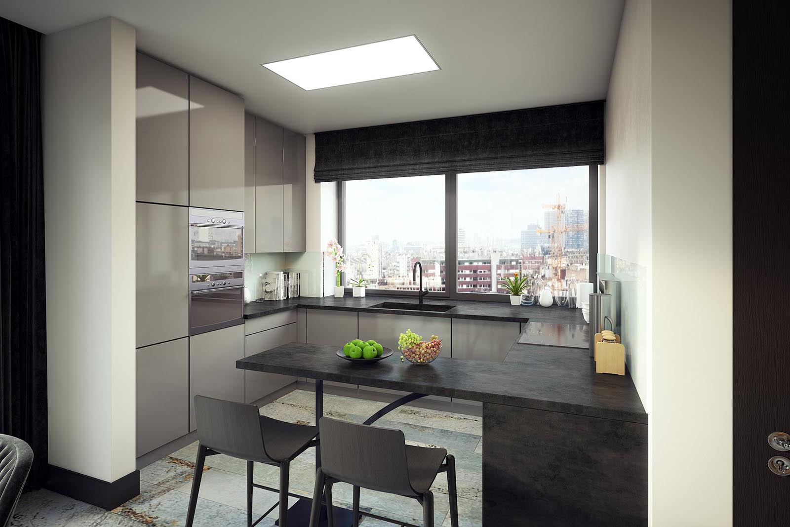 3D Visualization-Modern kitchen-2