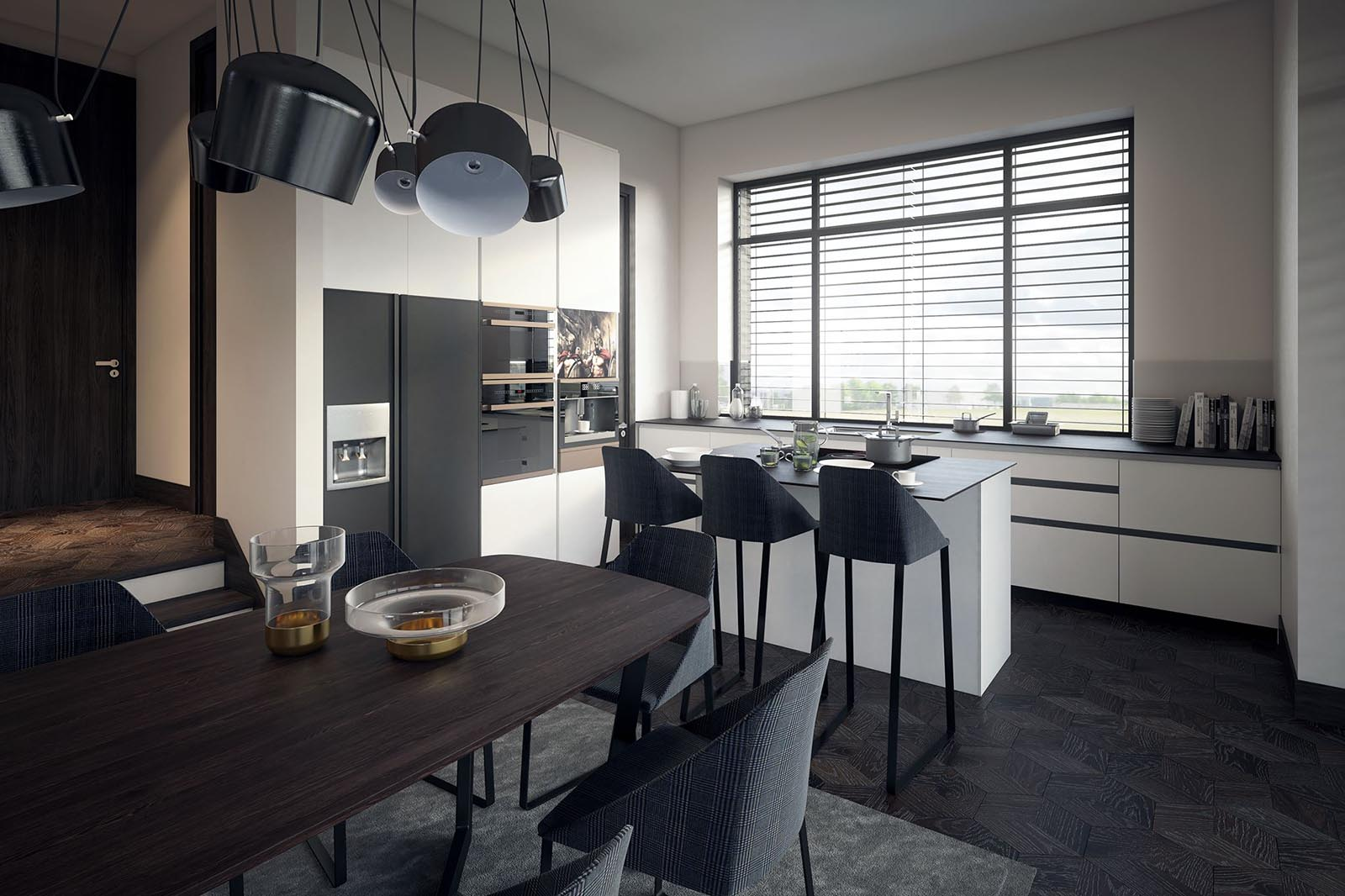 3D Visualization-Modern kitchen-3