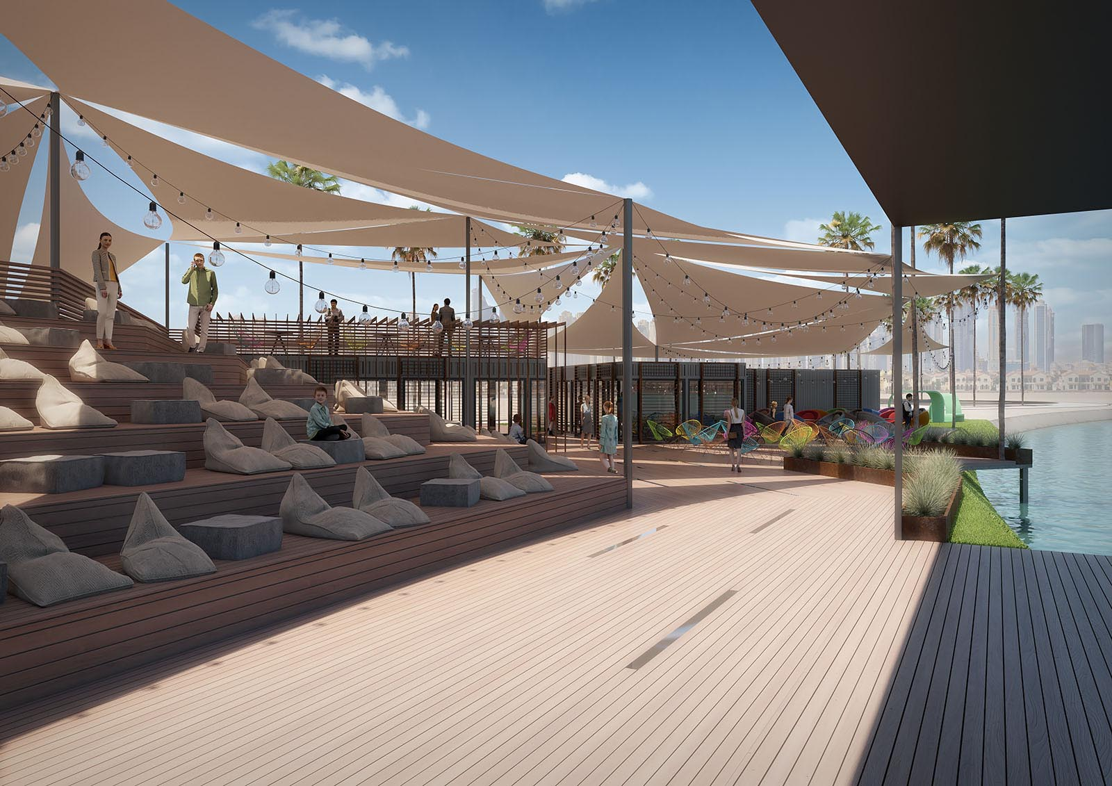A project of a wake park in Dubai.
