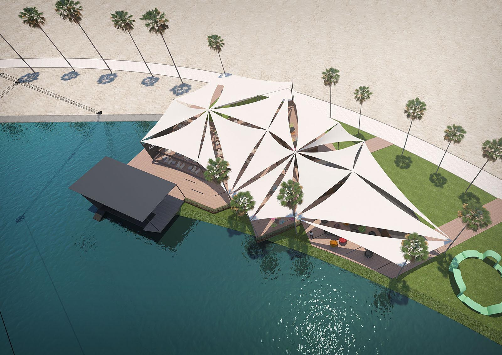 Wakeboard park visualization, Dubai