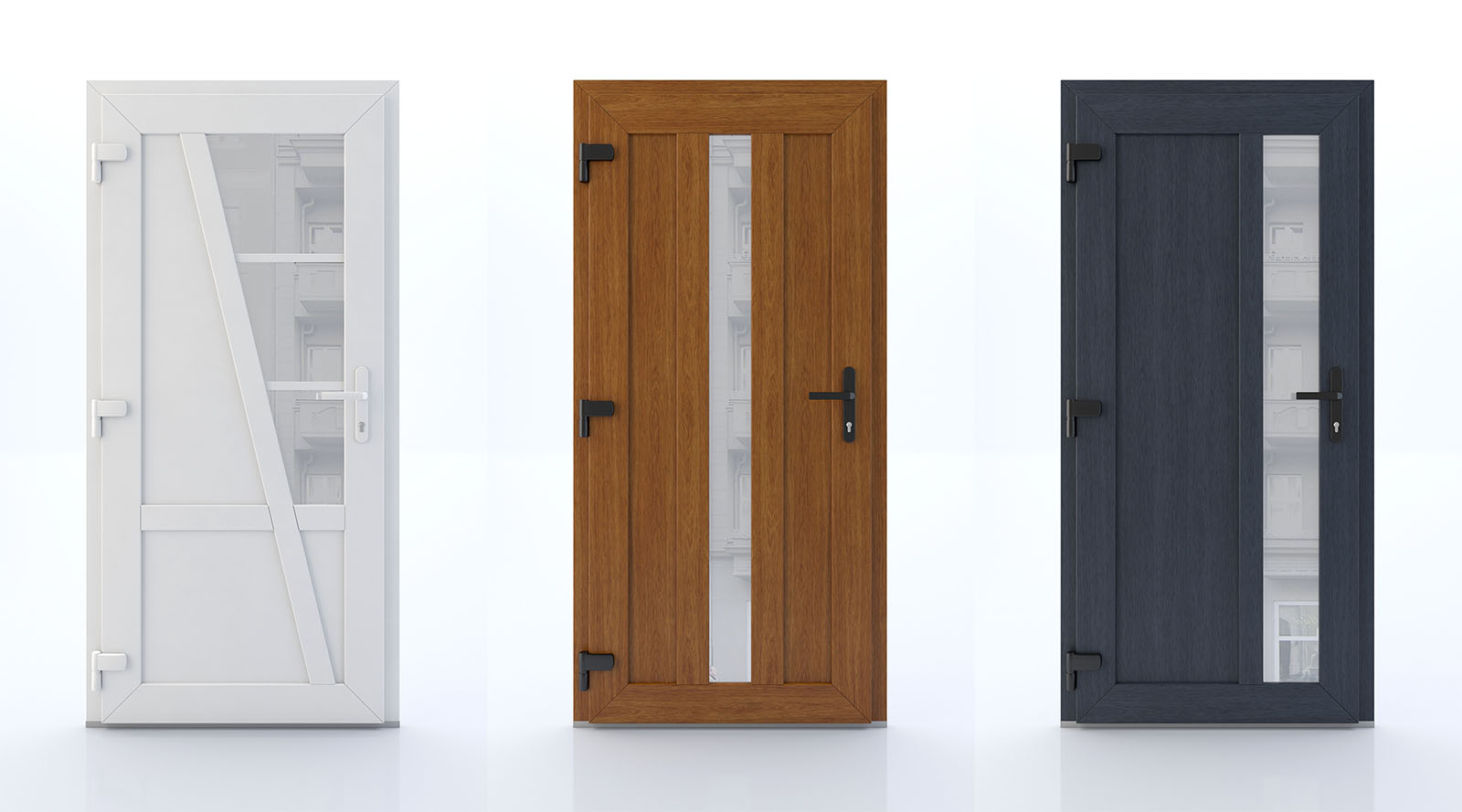Product visualizations of scandinavian style doors